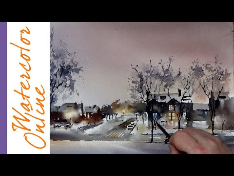 Thursday Speed Up Demos: Saint Louis Village, View from the Hill (Watercolor Cityscape)