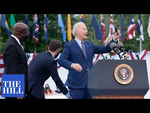 VIRAL moment: Joe Biden repeatedly interrupted by protesters at Georgia rally